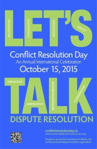 Conflict Resolution Day was started in 2005 by the Association for Conflict Resolution in the United States.